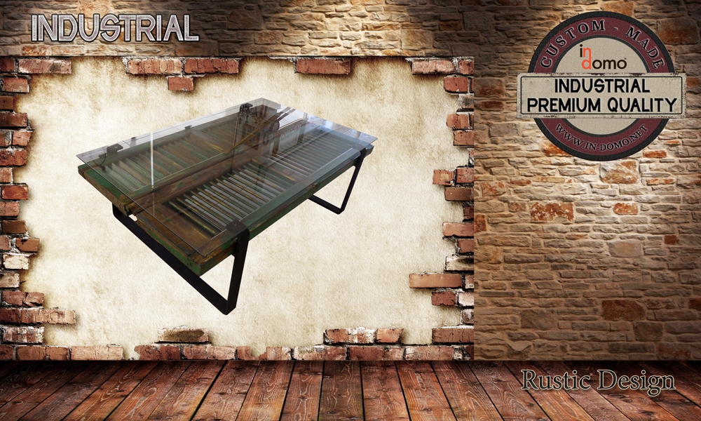 """custom-made """"old window"""" Coffee table with tempered safety glass, PERSONALIsED BY YOUR CHOICE OF PAINTS AND DIMENSIONS, 128.5x78x40 (TO order aT €380)"""
