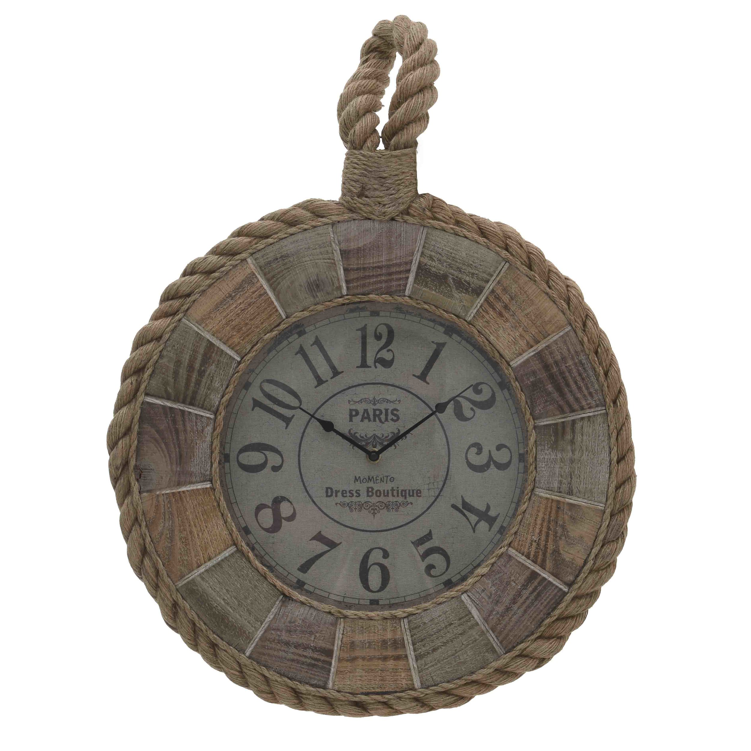 €80 WALL CLOCK W/ROPE MULTI COLORED 46X6X66
