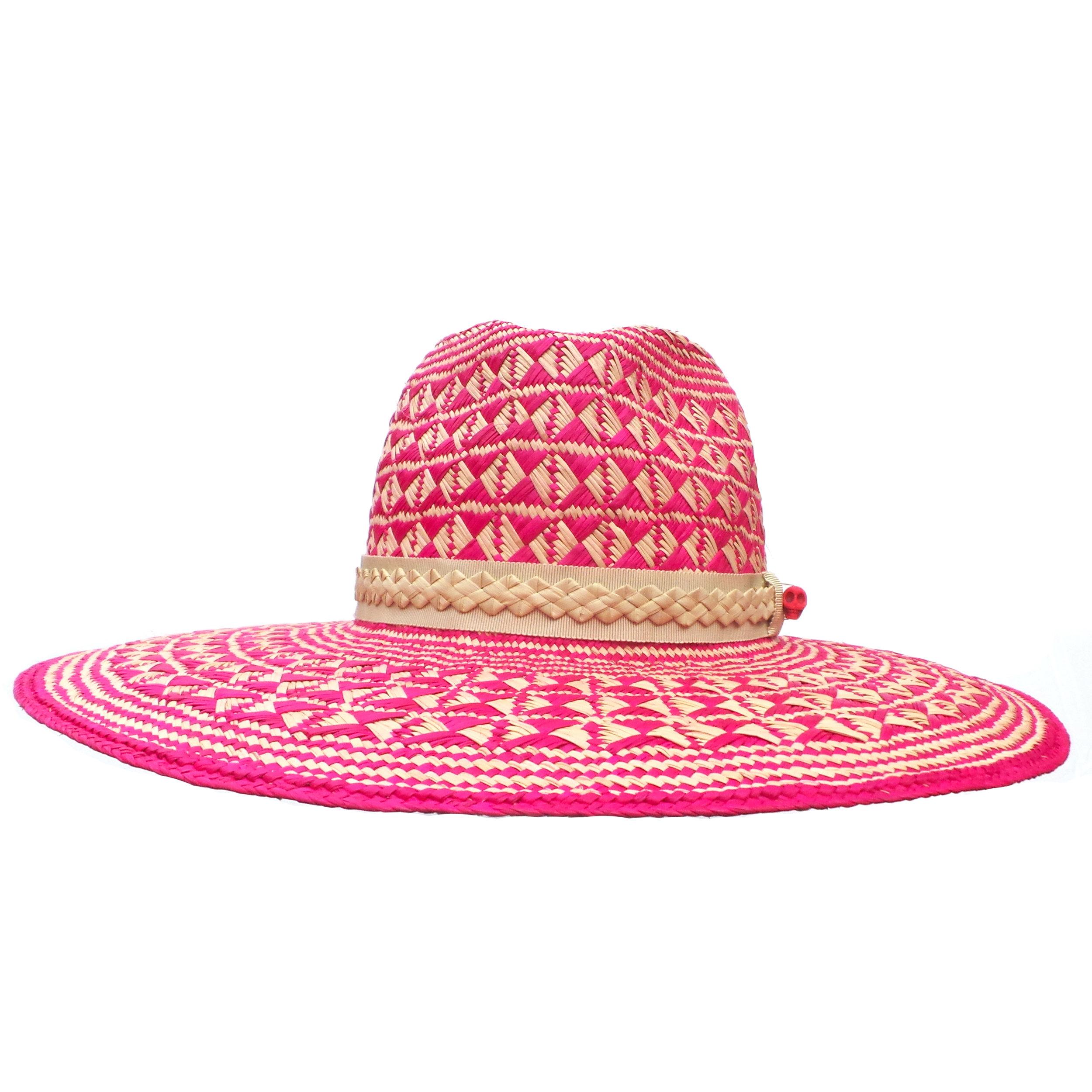 Large Brim Pink Fedora