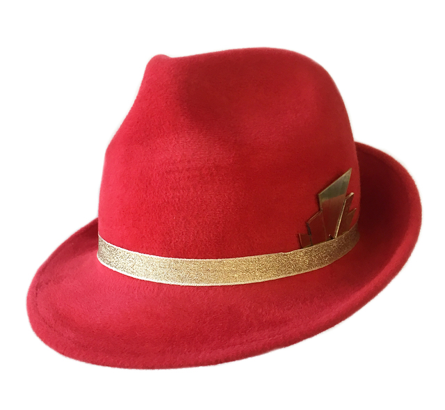Red and Gold Trilby