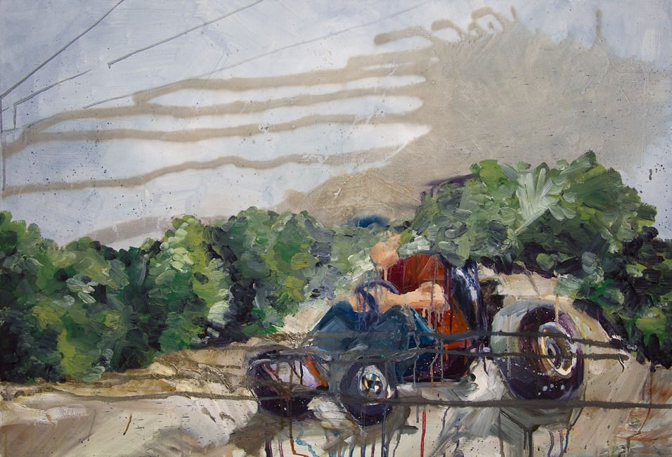 Johnny Go Riding 1, 29 inches x 42 inches, oil on canvas, 2012