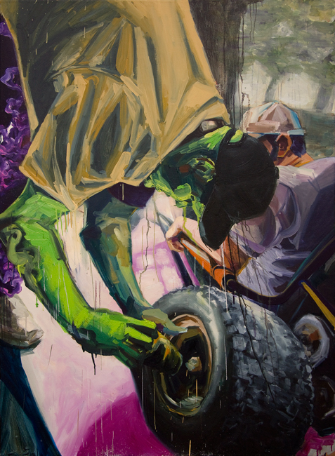 Johnny Go Riding 4, 72 inches x 48 inches, oil on canvas, 2012