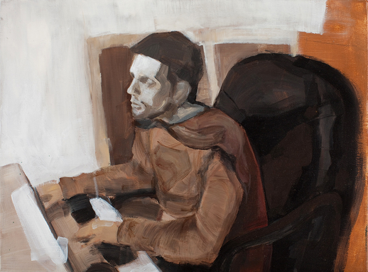 Untitled (Man of Tomorrow 01), 12 x 16 inches, acrylic on canvas, 2010