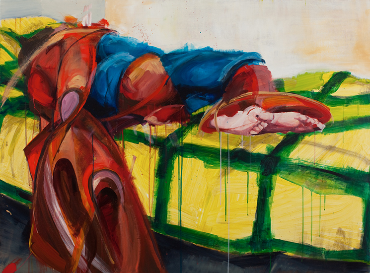 Untitled (Man of Tomorrow 04), 36 x 48 inches, acrylic on canvas, 2010
