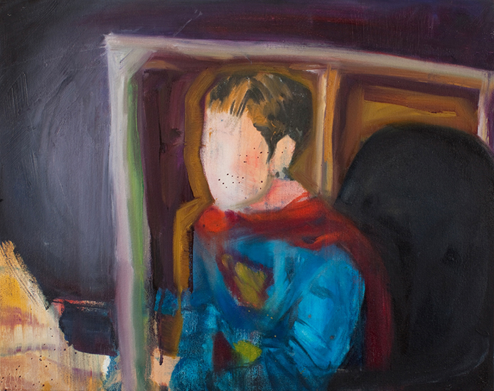 Untitled (Man of Tomorrow 08), 16 x 20 inches, oil on canvas, 2010