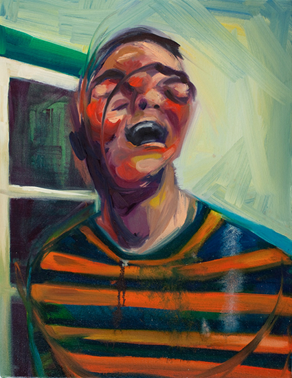 Zefrey Laughing II, 18 x 14 inches, oil on canvas, 2010