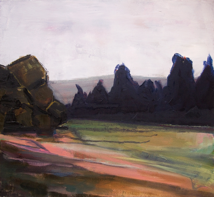 "The Clearing, 21"" x 23"" oil on canvas, 2014"