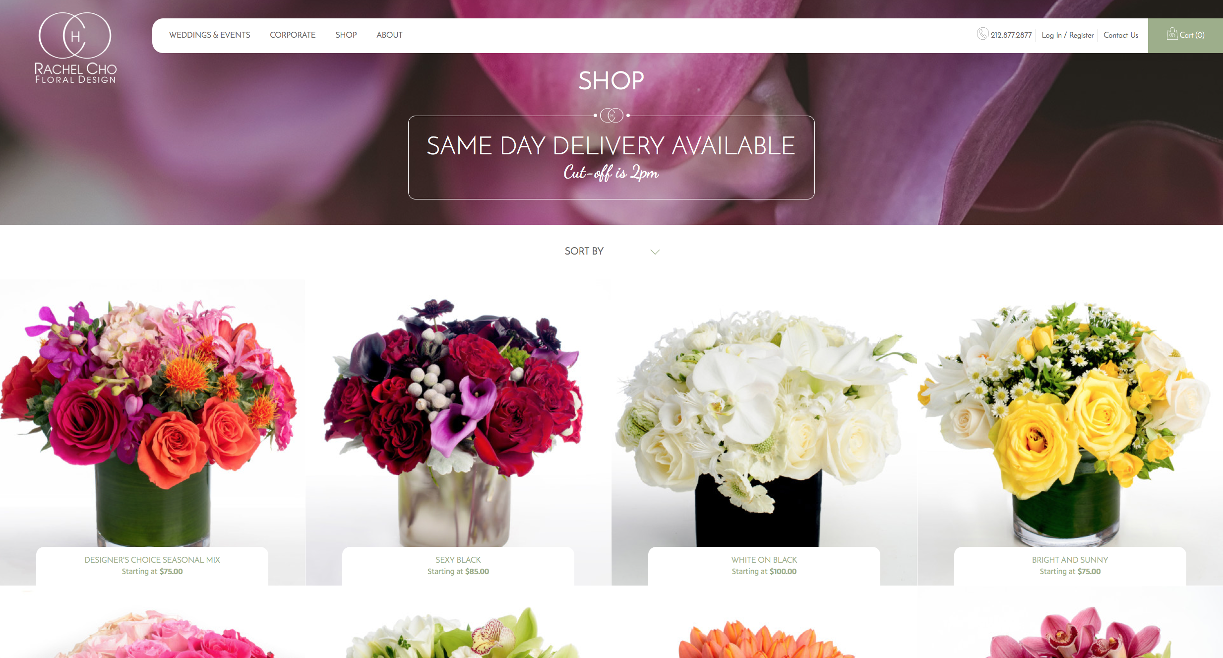Screenshot of http://rachelchoflowers.com/shop/