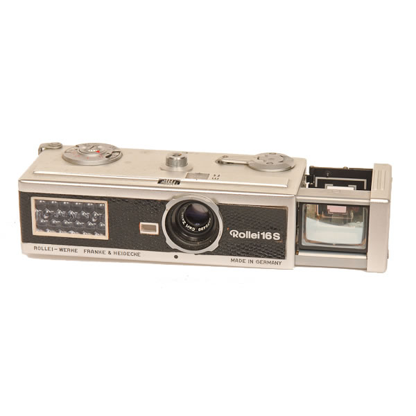 Frank & Heidecke Rollei 16s   A subminiature camera using 16mm film. Manufactured from 1963 to 1967.