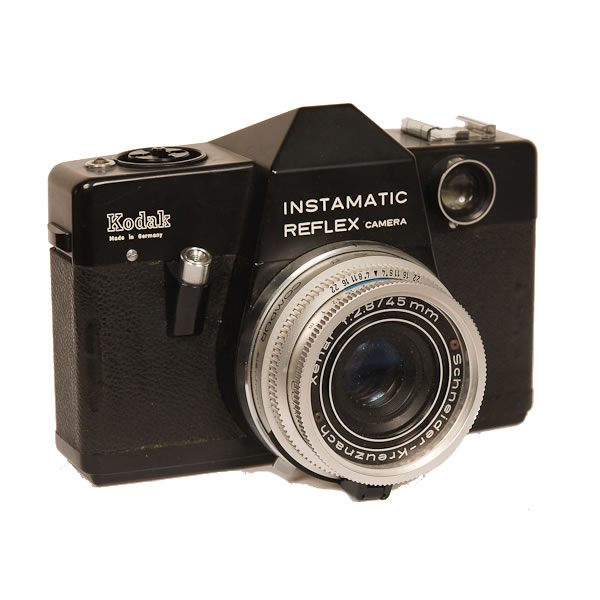 Kodak Instamatic Reflex   1968-1974. Using 126 film cartridges this was a SLR with interchangeable Retina Lenses. Most importantly it had a fully electronic shutter which was one of the very first in the world.