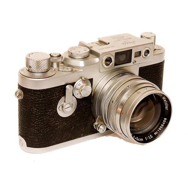 Leica 3 G   1956-1960. The last Leica with a screw mount lens.