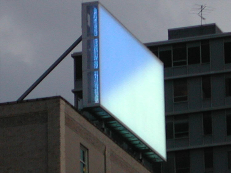 Billboard the Skyline, Pittsburgh, 2001 (photo courtesy of Gluckman Mayner Architects)