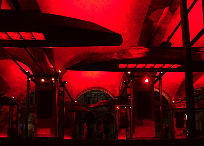 Prometheus Palazzo della Ragione, Milano Salone del Mobile, 2003 ©photo by AJ Weissbard