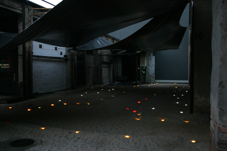 with light regards,an installation by AJ WeissbardSegheria, Milano, 2006 ©photo by AJ Weissbard, 2006