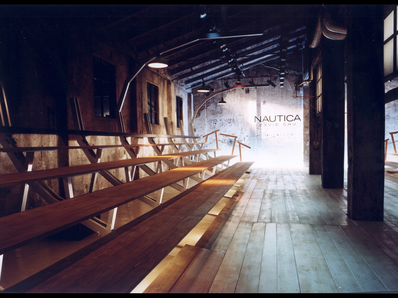 Nautica Men's CollectionSpring / Summer 2003Segheria, Milano, 2003 (photo courtesy of Tanja Solci Studio)