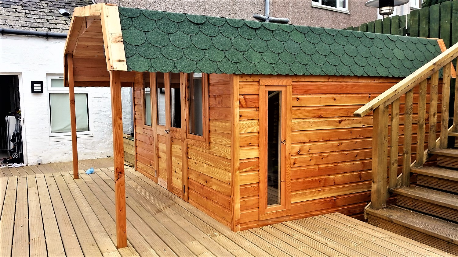 Sheds / Garages, Conservatories, Cabins, Camping & Glamping Pods