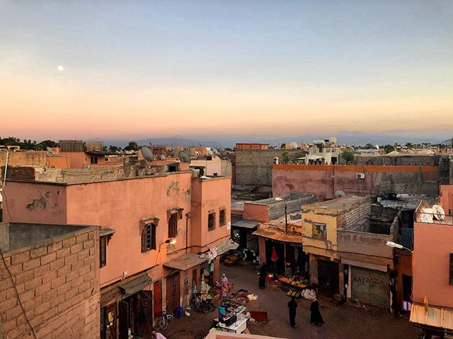 Golden hour in Marrakech. Missing these sunsets.✨ 🇲🇦