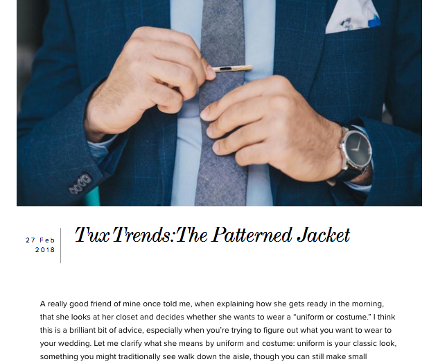 Full story:loveincmag.com/tux-trends-patterned-jacket/