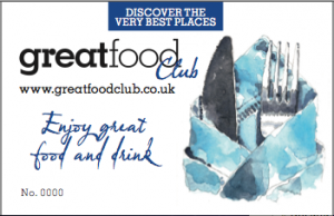Great food magazine is no longer in print but Matt Wright now runs the Great Food Club which offers discounts at a select group of East Midlands restaurants,  far better than groupon as not only are the restaurants carefully selected for inclusion, they aren't pressured into loss making deals!