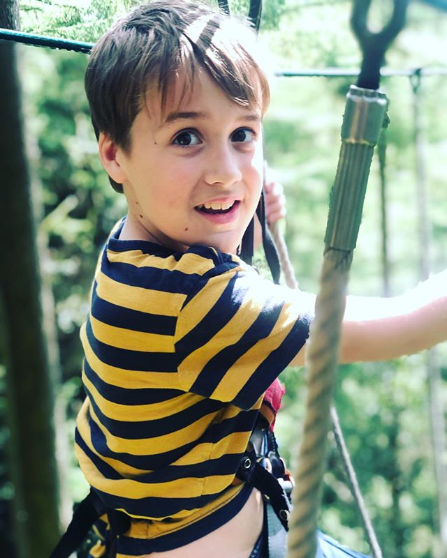 Long weekend in Yorkshire ending with a morning of terror in the treetops with this fearless boy. . (he's afraid of food that isn't cereal but not heights 🤔)