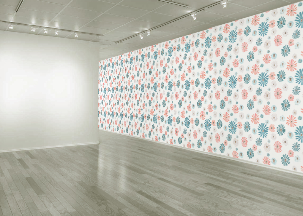 Miracle Grow  Installation (mock-up), site specific custom designed wallpaper installation, dimensions variable, 2013