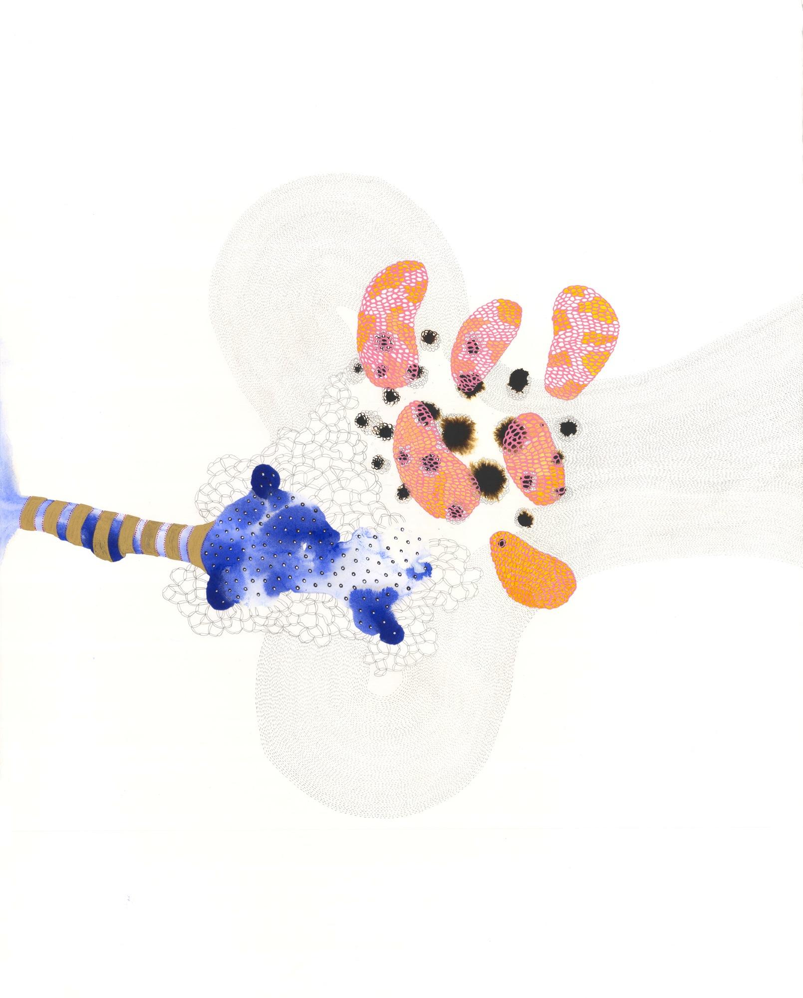 """VI-1 , gouache, graphite, ink on paper, 28"""" x 22"""", 2013"""