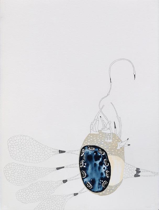 "Super Soybean, gouache, graphite on paper, 30"" x 22"", 2010"