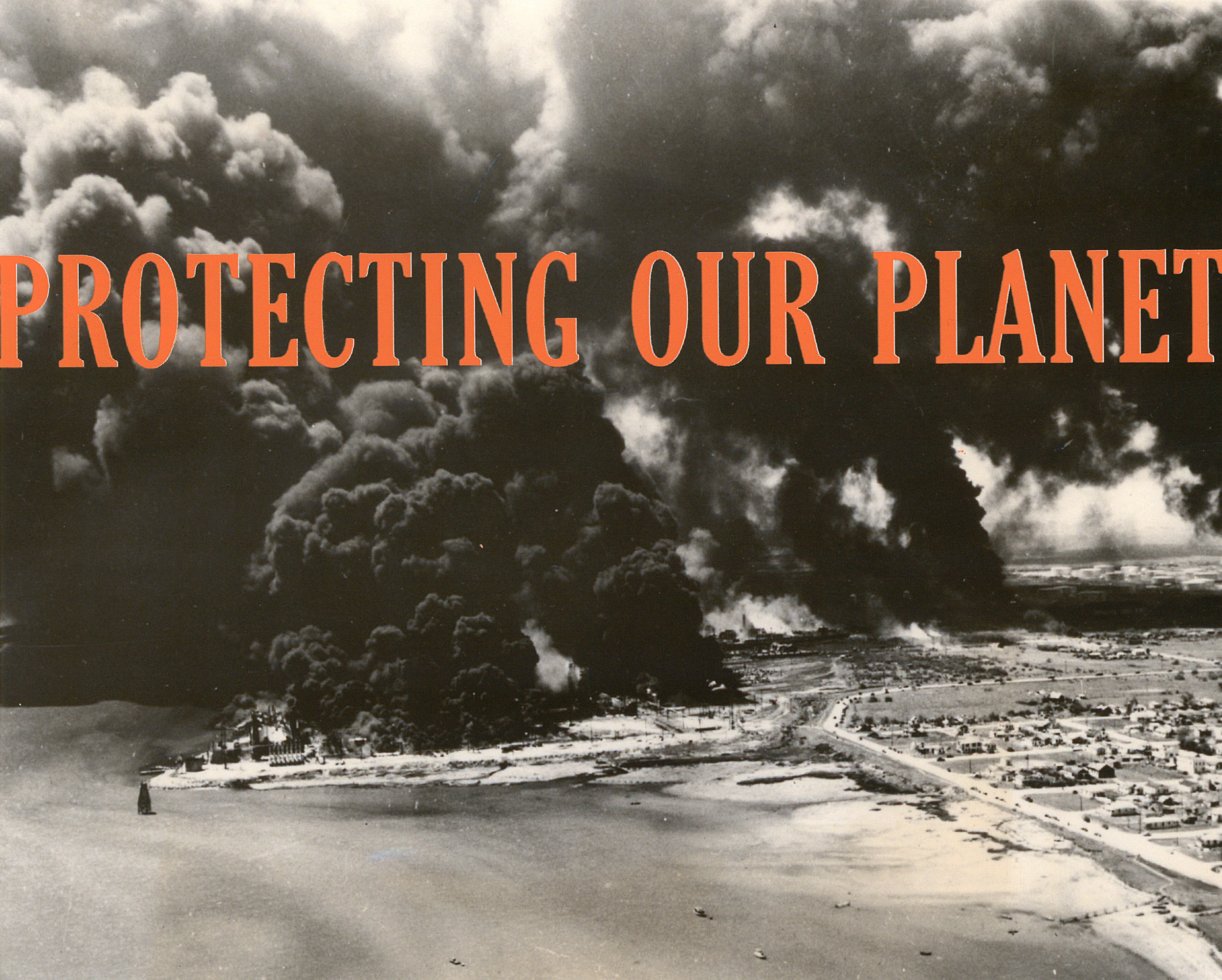 """Protecting Our Planet , silkscreen on archival pigment print, 8"""" x 10"""", 2016"""