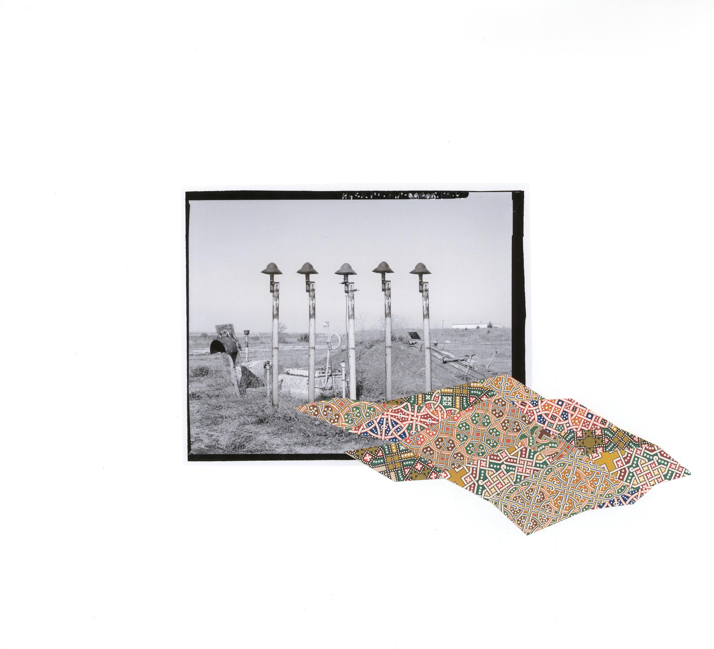 """Escape Hatch , collage on archival pigment print, 15"""" x 16.5"""", 2016"""