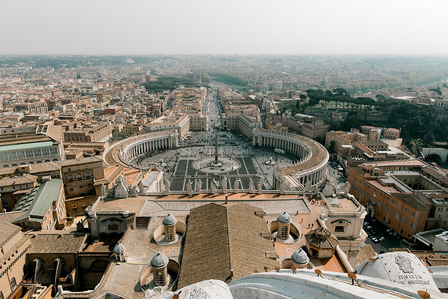 View from top of St. Peter's Basilica's dome