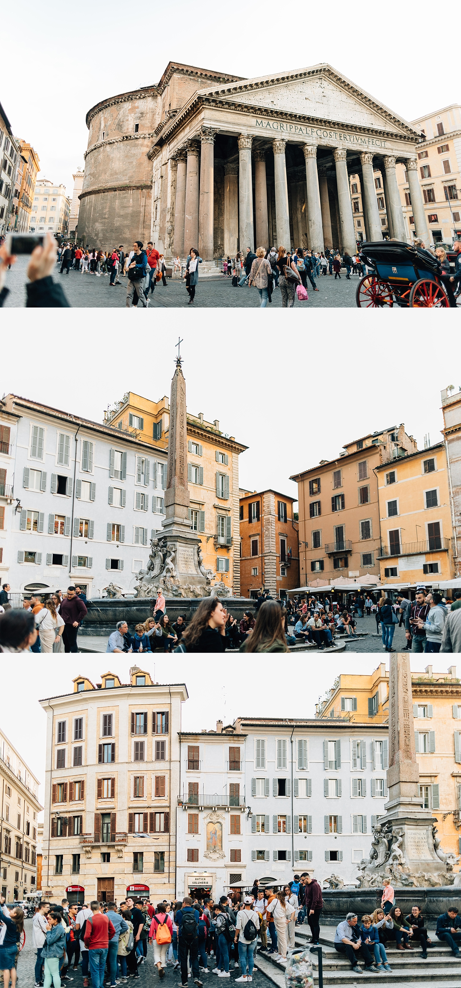 One of my favorite squares -Piazza della Rotonda with the Pantheon.