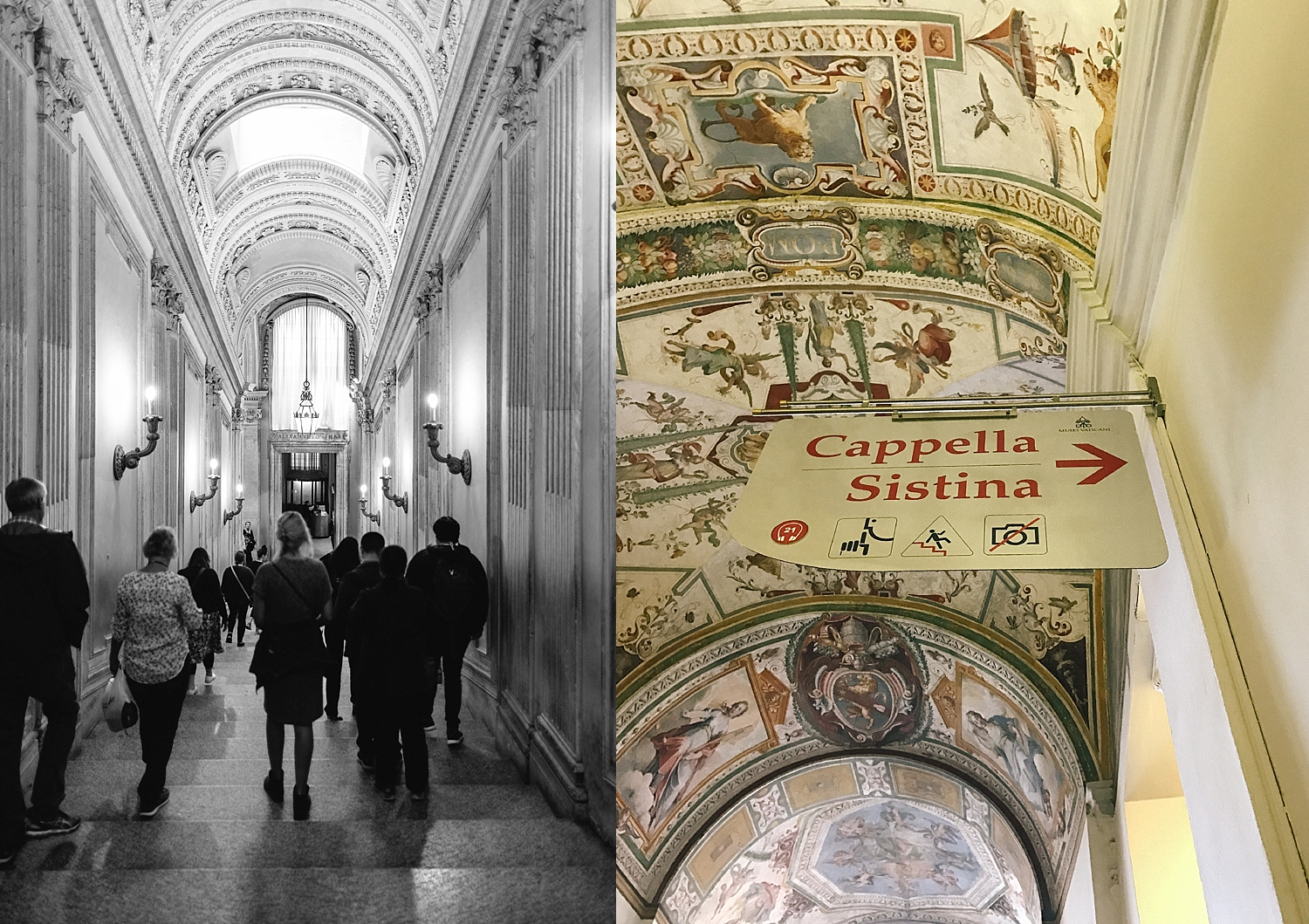 No photos allowed of the  Sistine Chapel by Michelangelo  - one of history's greatest artistic accomplishments.