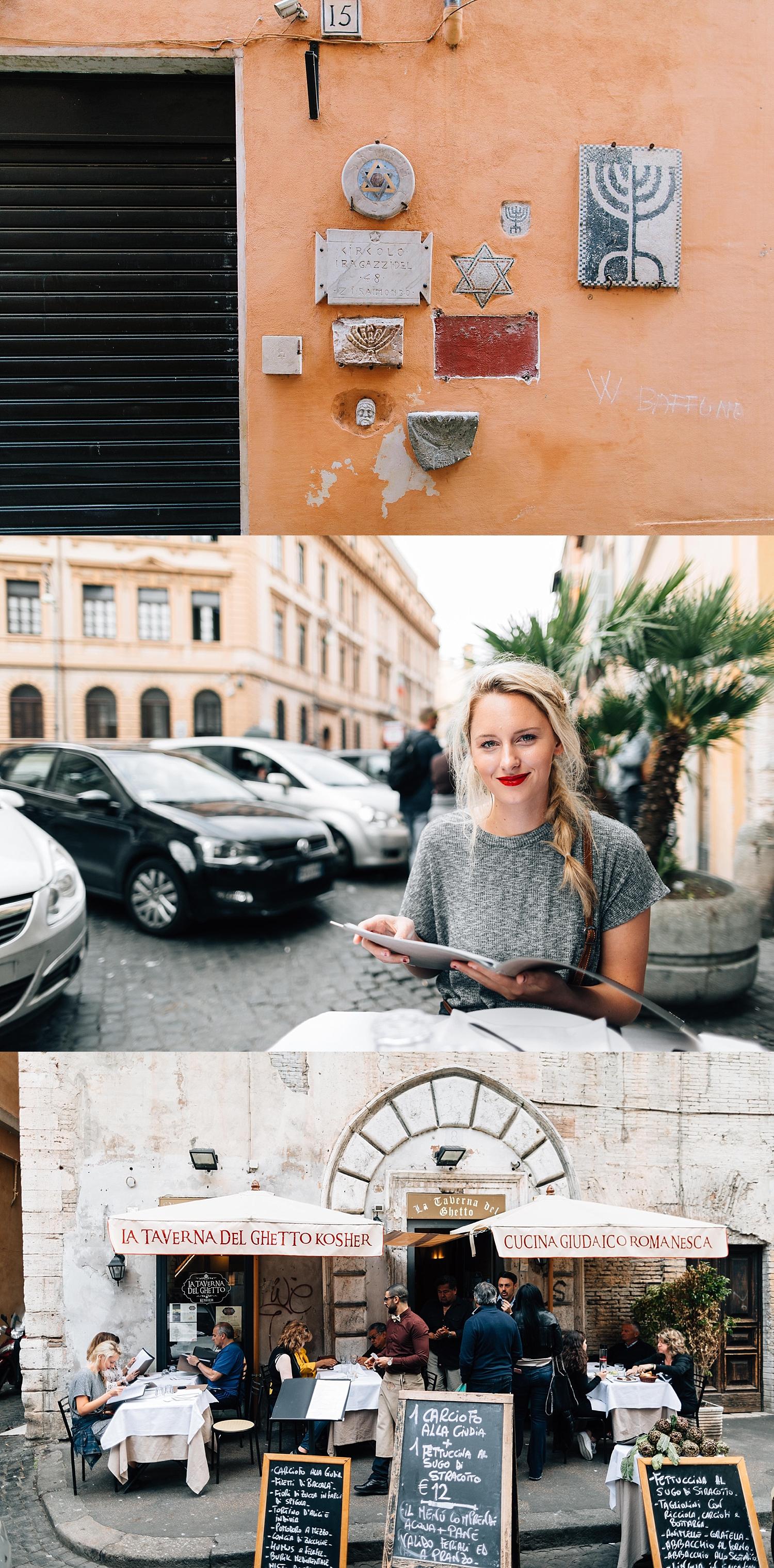 Rome's Jewish Ghetto | La Taverna Del Ghetto Kosher Cuncina Guidaico Romanesca