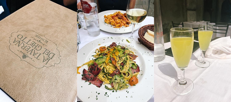 Limoncello with La Taverna Del Ghetto dinner.