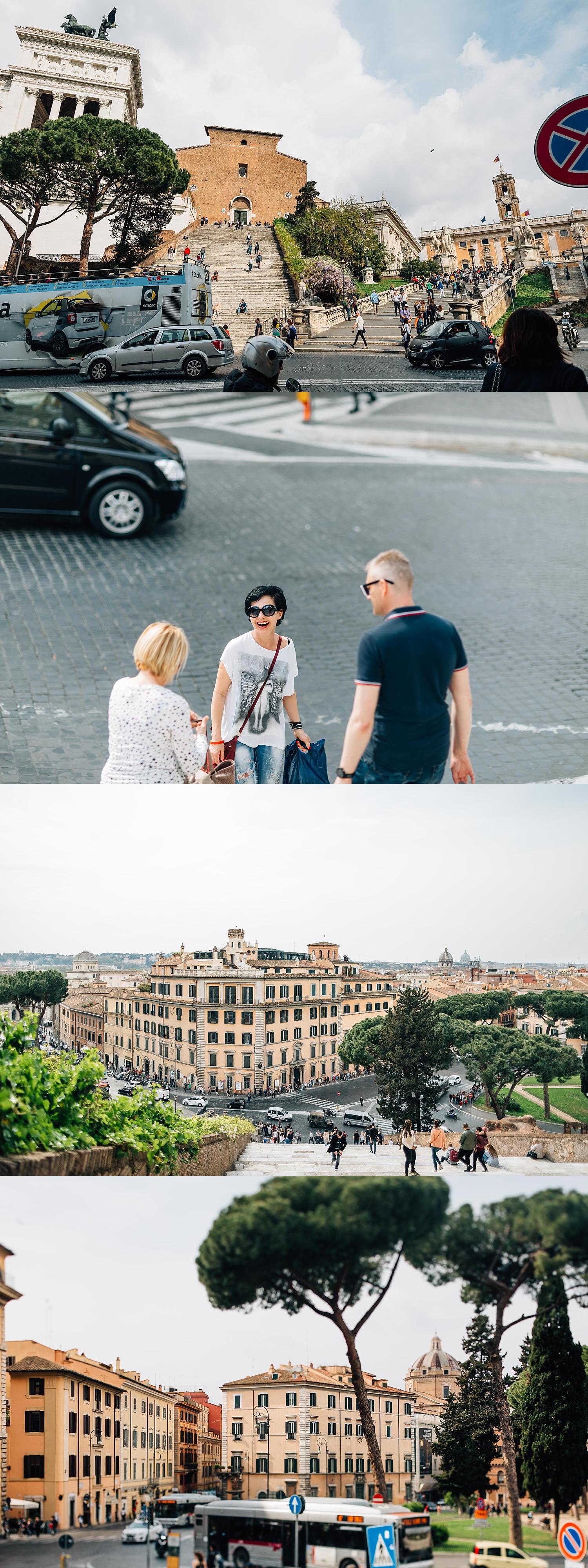 Near the Piazza del Campidoglio