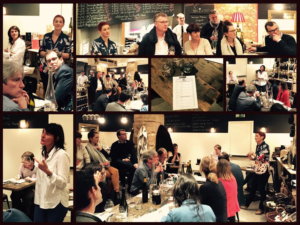 Dégustation Alsace - Le 6 octobre 2016 avec Marie-Thérèse Barthelmé du Domaine Albert Man et Nathalie Traber de la Distillerie Metté