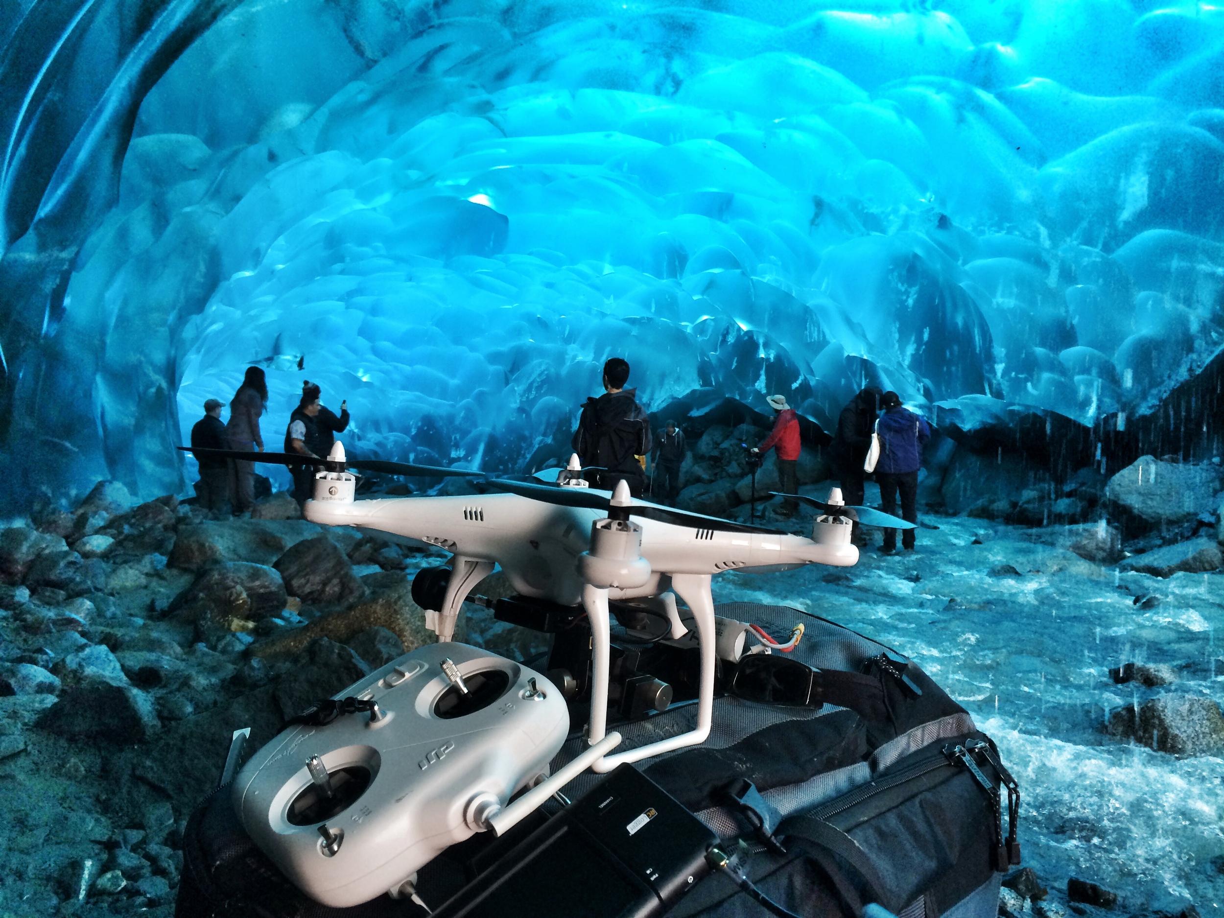 "Flying through Ice Caverns in Alaska on ""Brewdogs"""