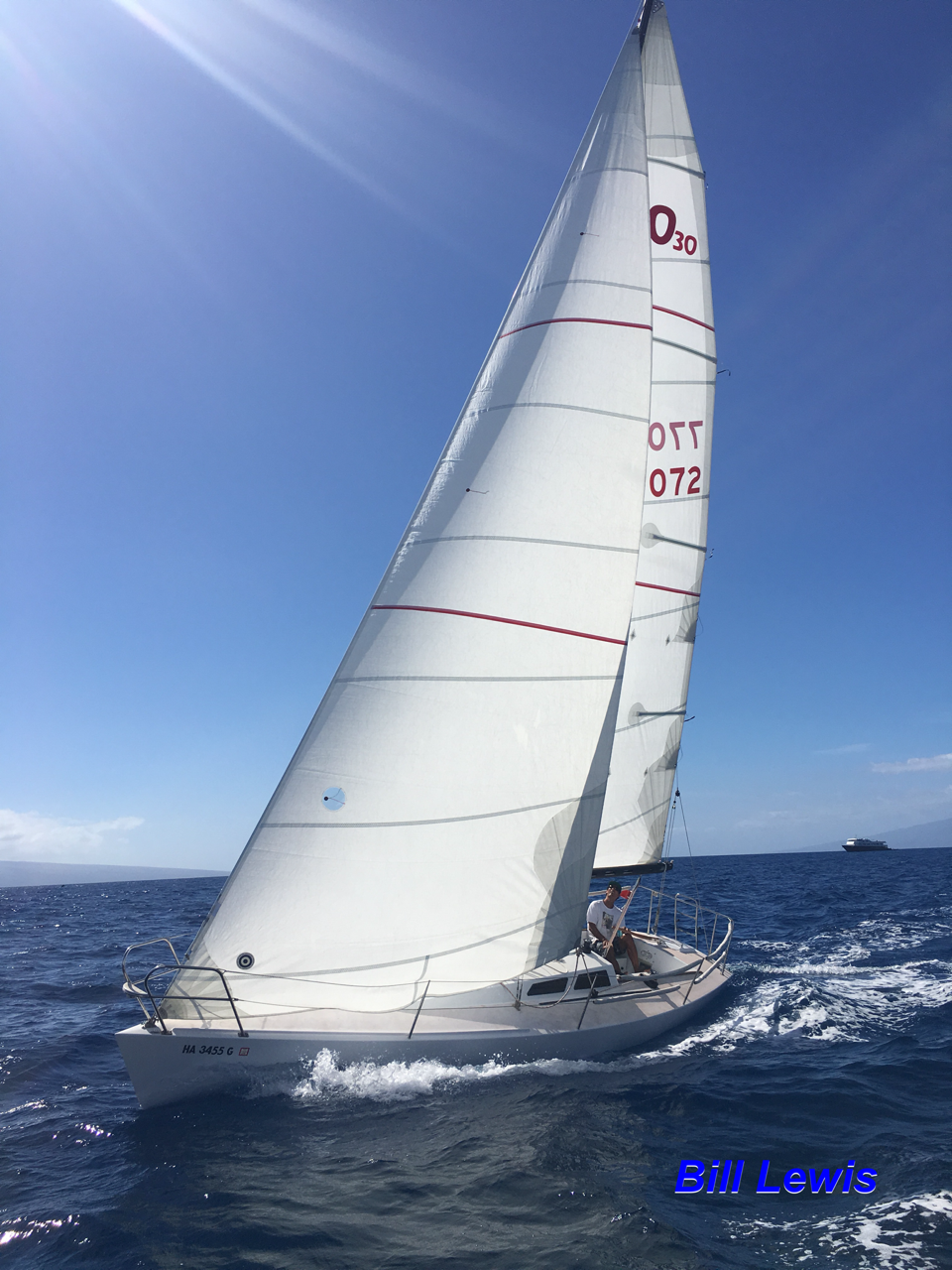 """The Olson 30 is back on the water and looking beautiful - March 2017  The Lahaina Yacht Club is proud to announce the unveiling of our new Olson 30 yacht!   """"Lele"""""""