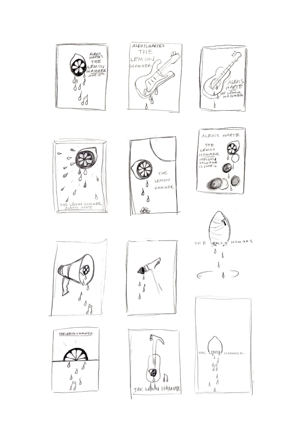 initial poster concept sketches