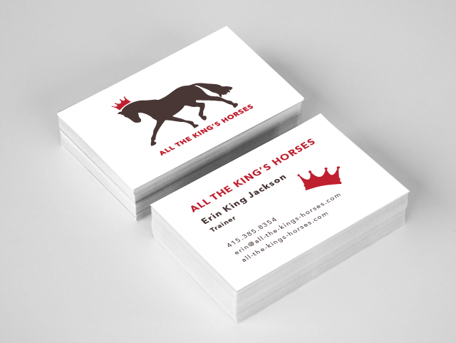 Trainer's business card