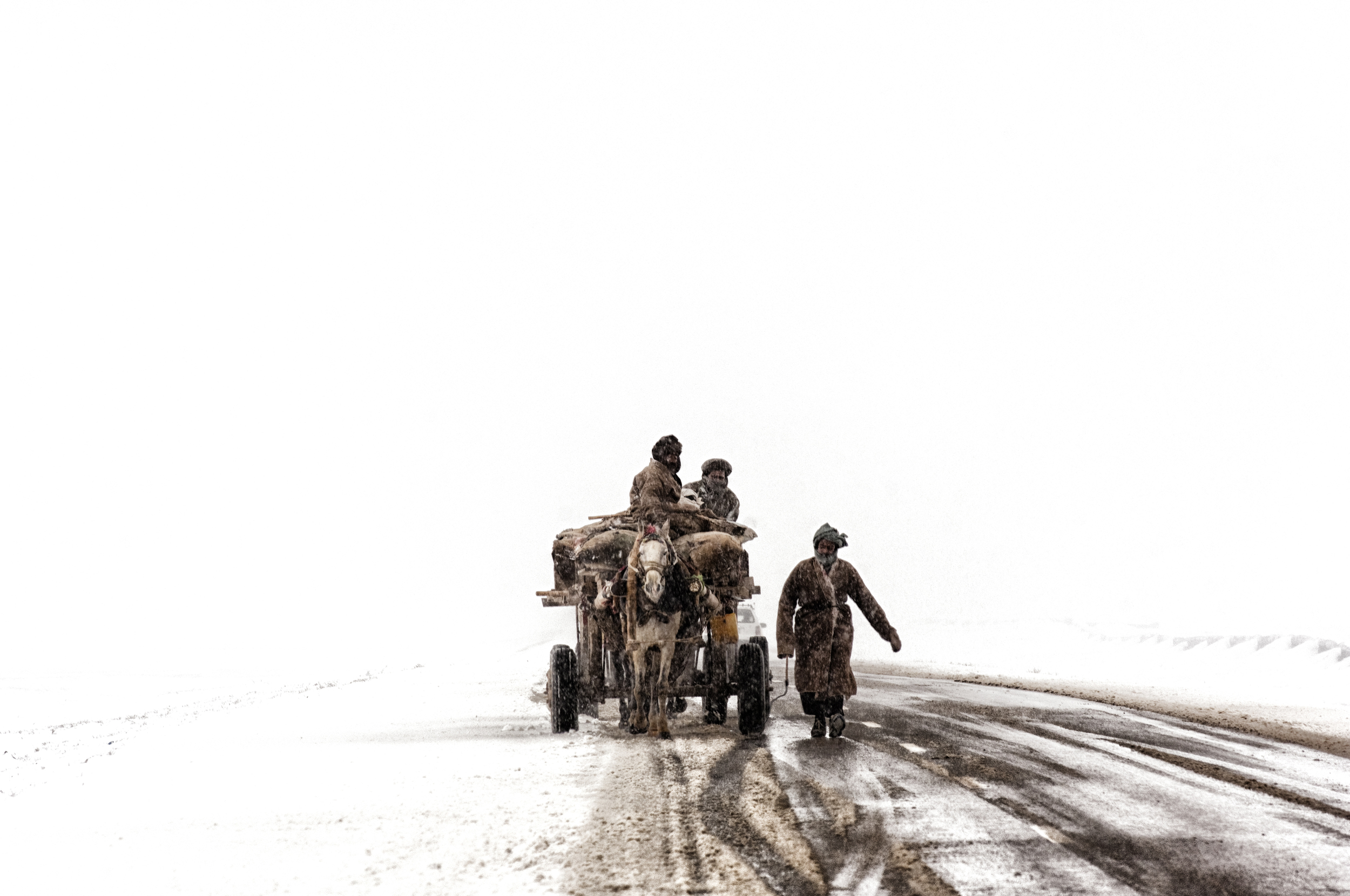 More than 900 people werekilled across Afghanistan as the country suffered from one of its harshest ever winters in 2008. Below freezing temperatures and bitter snow storms gripped the nation since the onset of winter in mid December. At its peak temperatures in the region fell to -22C (-8F); the coldest in more than 30 years. Nearly half the villages in western Afghanistan had been cut off from the major cities due to heavy snowfall, which reached 2 meters (79 inches) deep in some places.