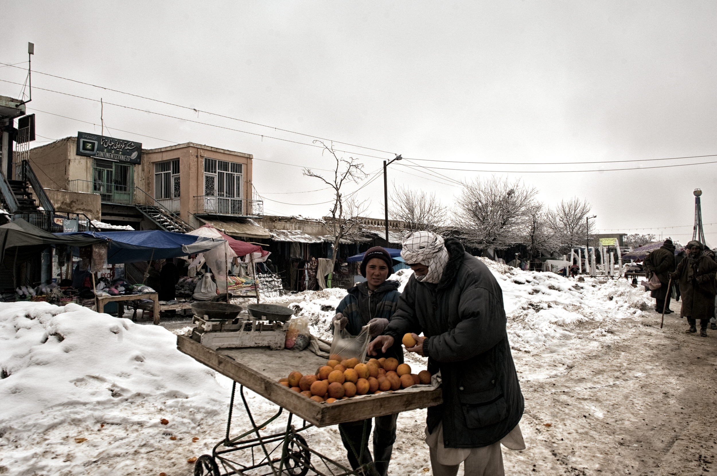 Nearly half the villages in western Afghanistan had been cut off from the major cities due to heavy snowfall, the cold snap affected the delivery of goods Faryab Province, Afghanistan, February 13, 2008. (Photo/Mark Pearson)
