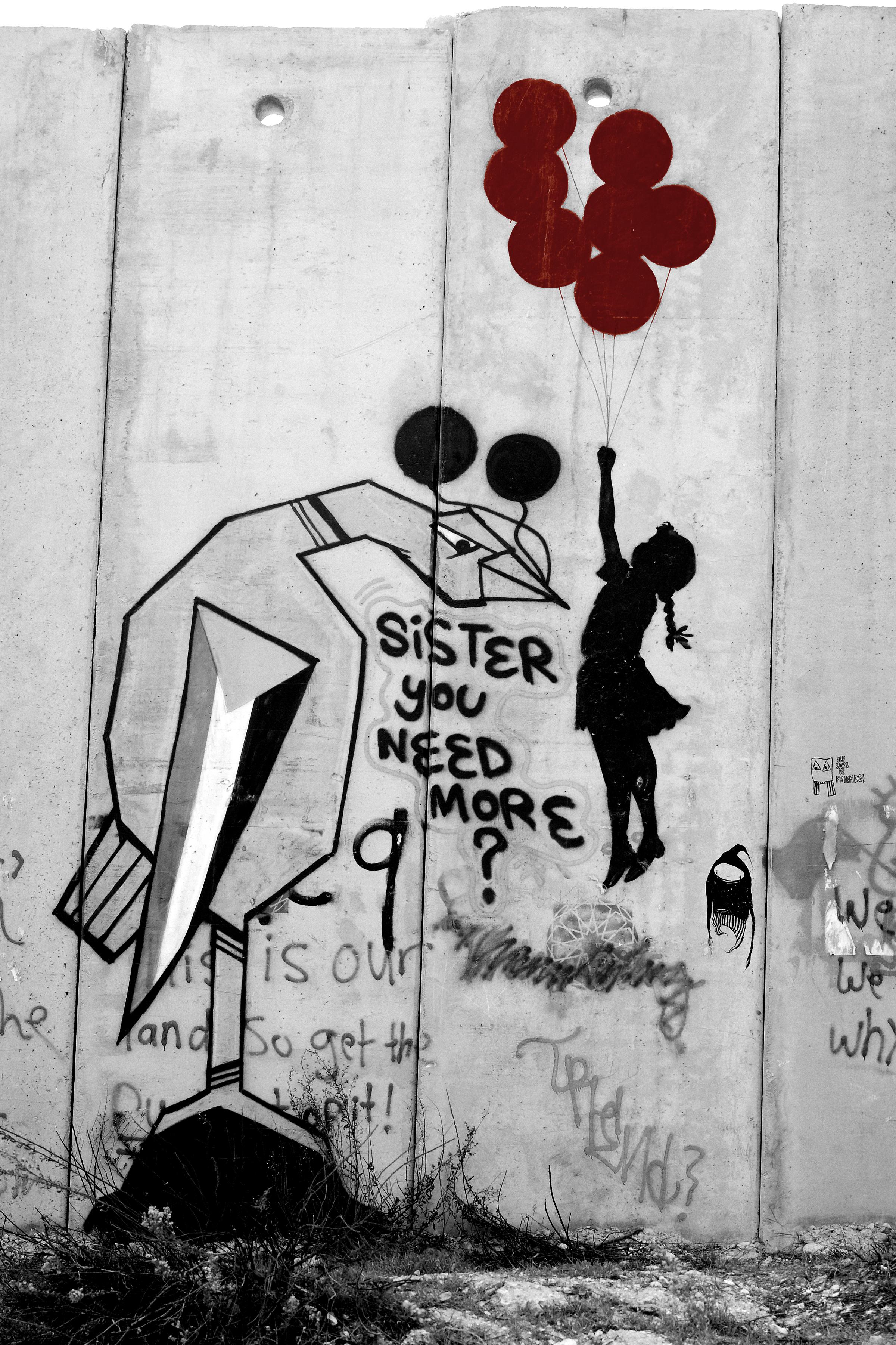 Balloon Girl Banksy Palestine #WithSyria