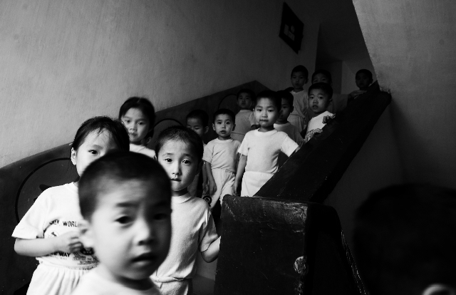 Malnourished north Korean children