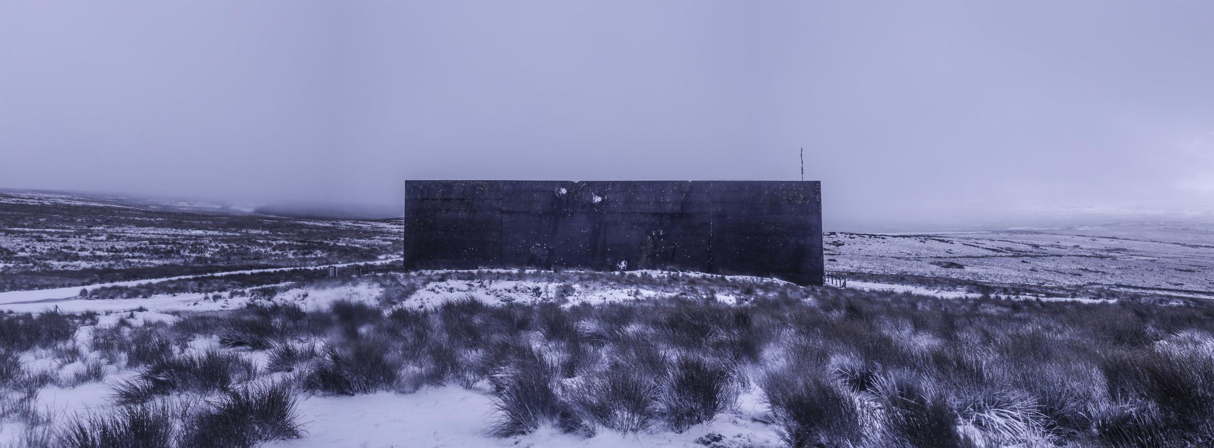 RAF Bomber Command target wall, secret location, Scotland 11 February, 2018. (Photo/Mark Pearson)