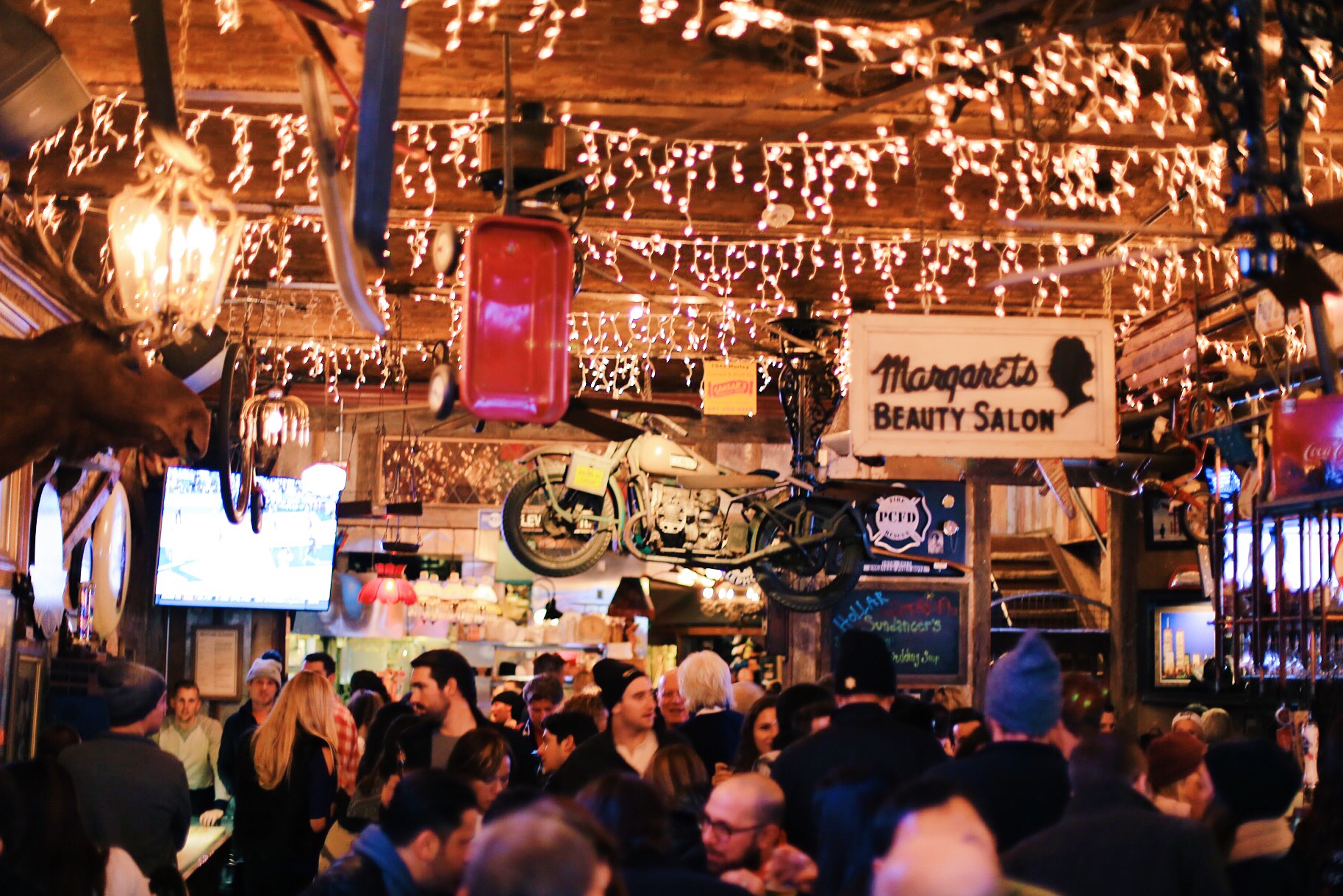 A packed No Name Bar during Sundance