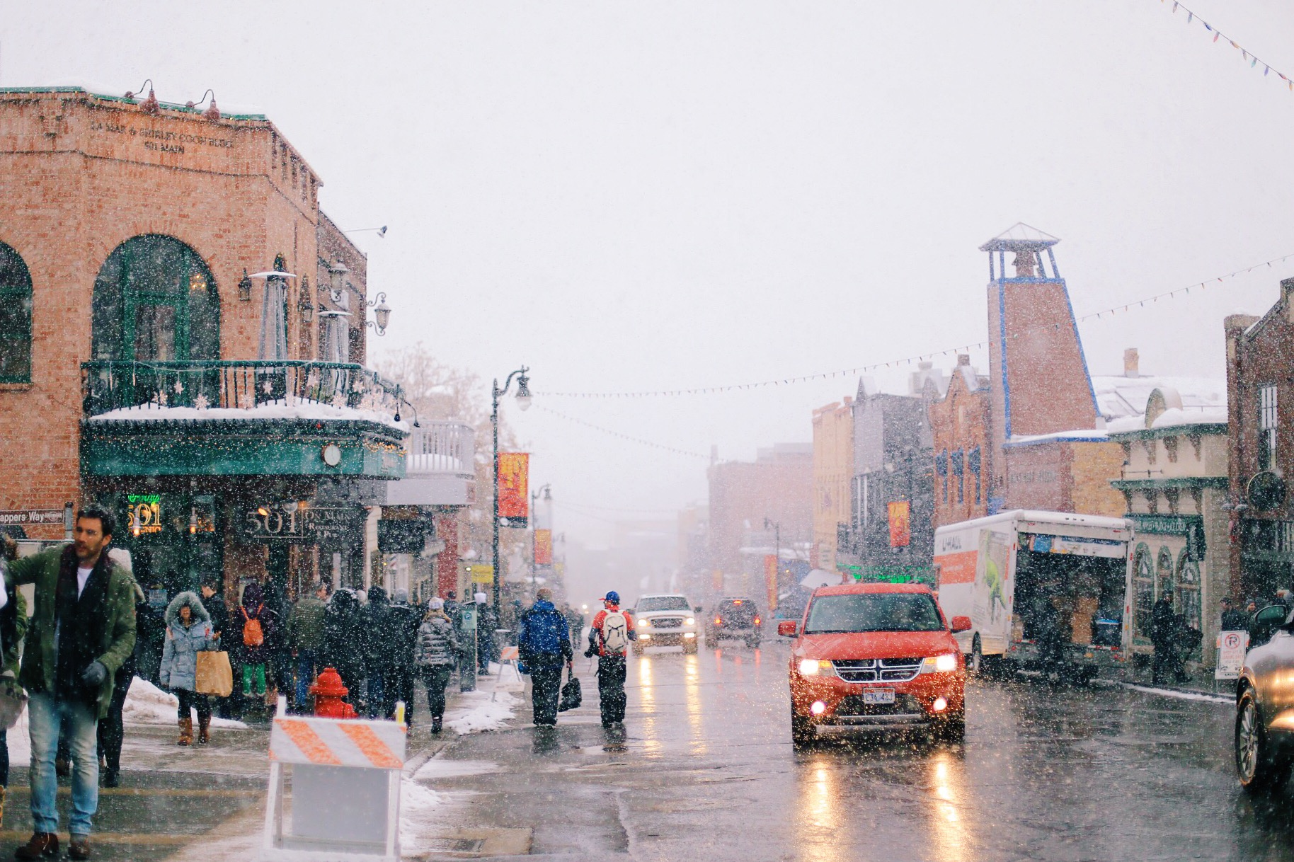 The beginning of a Sundance Film Festival blizzard!