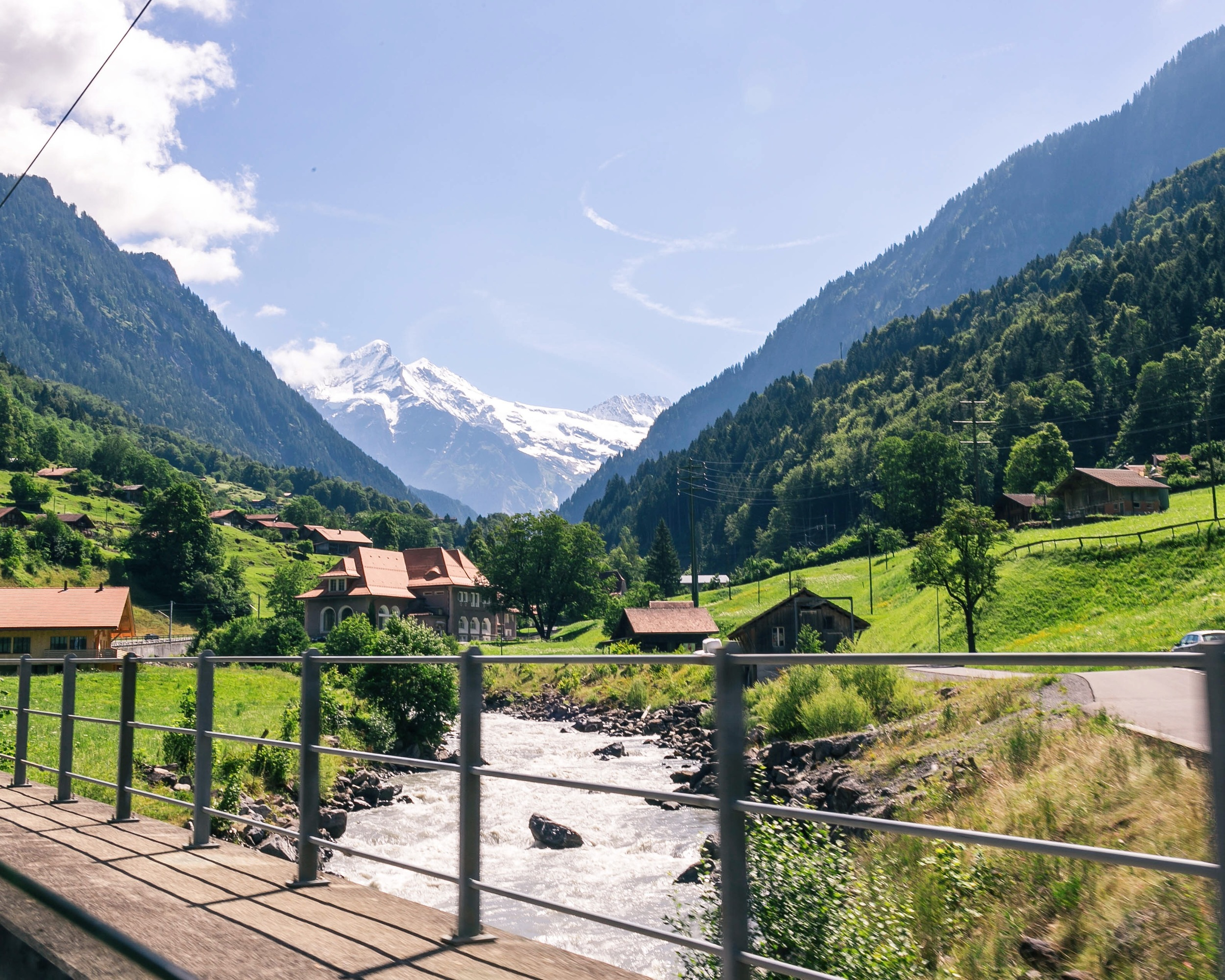 On a moving train in Switzerland shot with a Canon 6D
