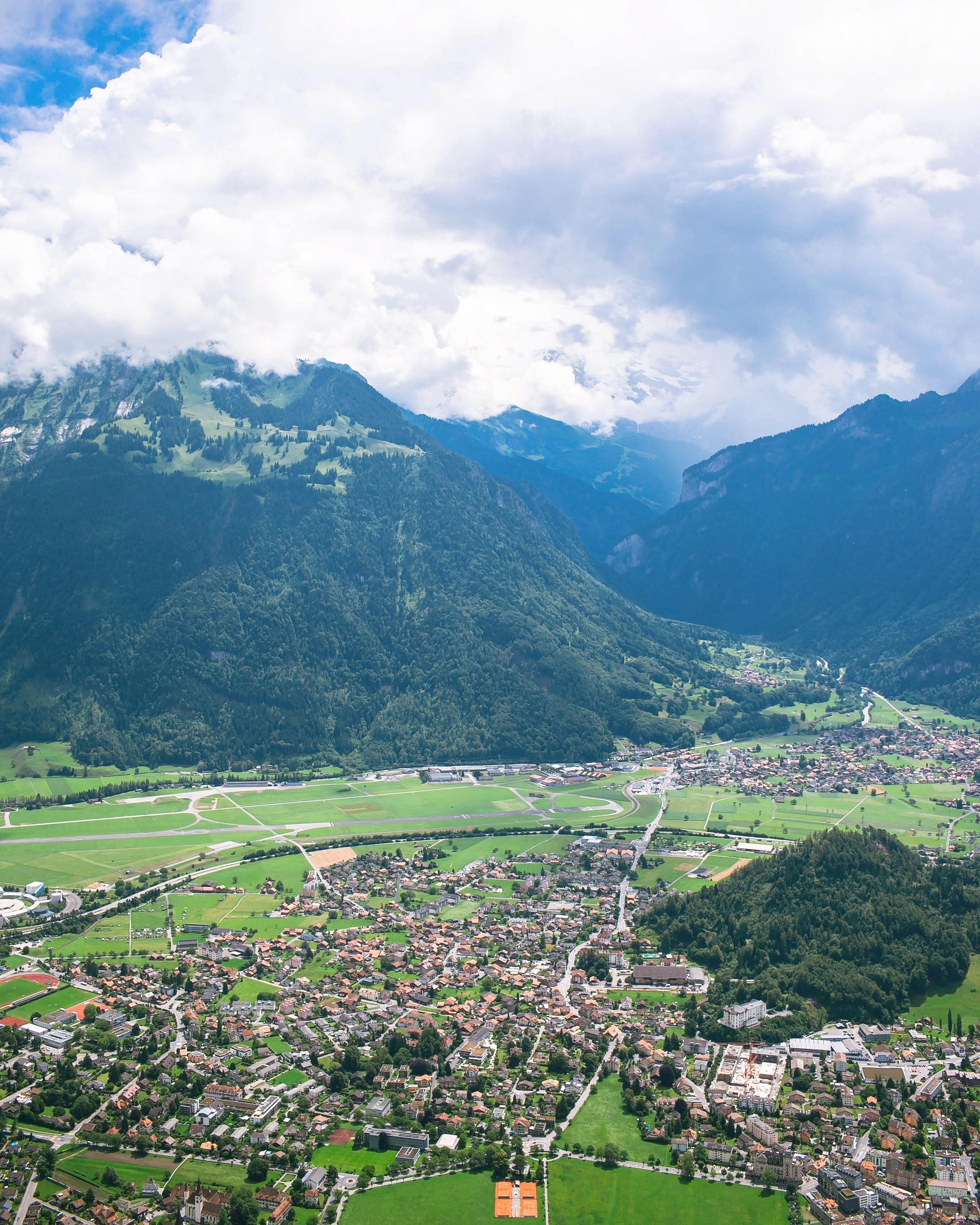 Interlaken, Switzerland from above