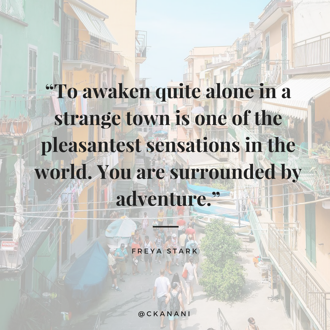 """To awaken quite alone in a strange town is one of the pleasantest sensations in the world."" #travelquote 